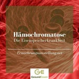 Rote Blutkörperchen als Symbol für eine Hämochromatose / Eisenüberschuss